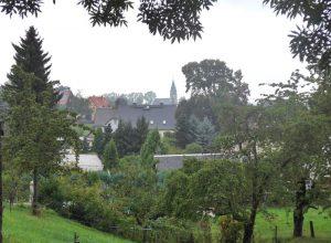 Ausblick zur Kirche